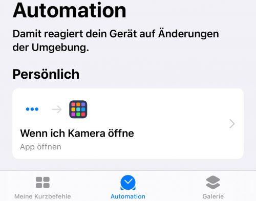 Automation Ios 13