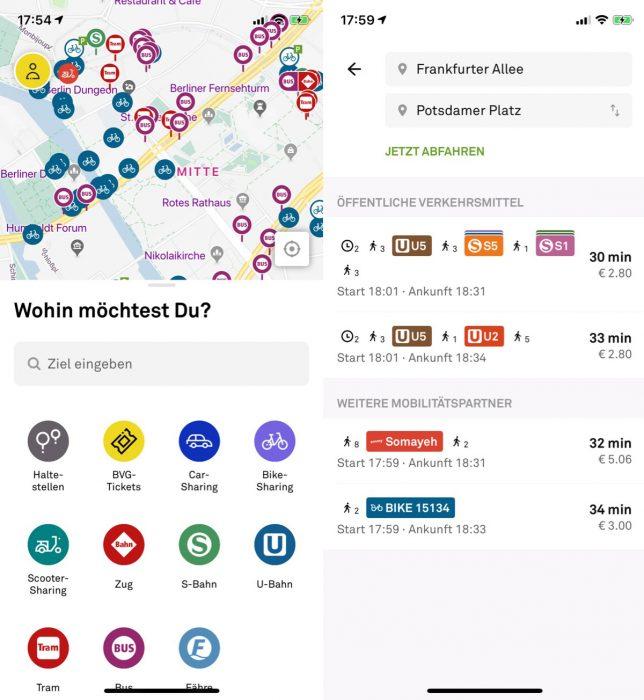 Jelbi App Berlin Screen
