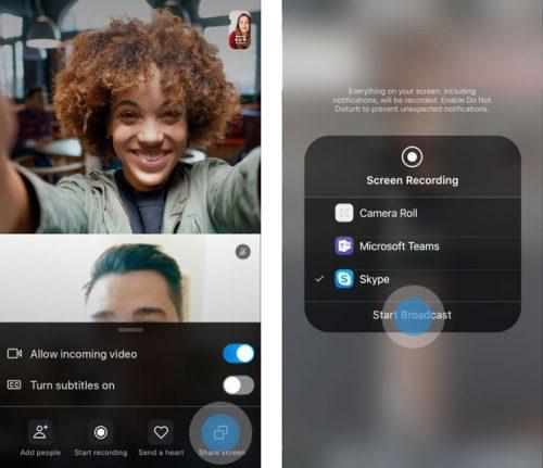 Skype Bildschirmfreigabe 1