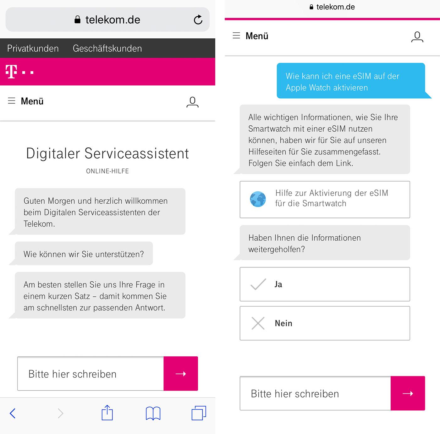 Telekom Bietet Kundenservice Per Chatbot Iphone Tickerde