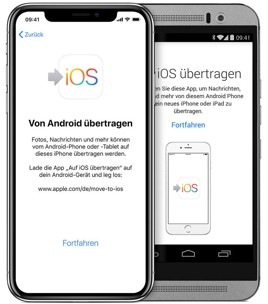 Android Daten Auf Iphone Uebertragen
