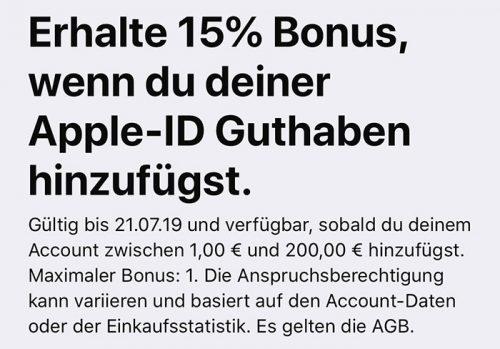 Apple Id Guthaben Mit Bonus