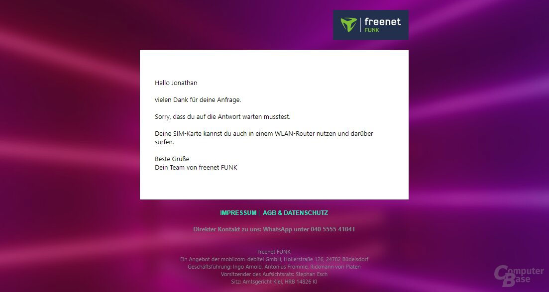 Freent FUNK: Anbieter äußert sich zu Kündigungen
