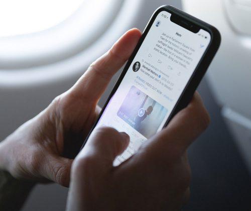 Iphone Im Flugzeug