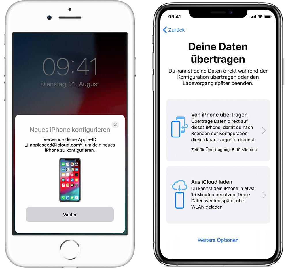 Neues iPhone einrichten: Datenübertragung jetzt auch per Kabel