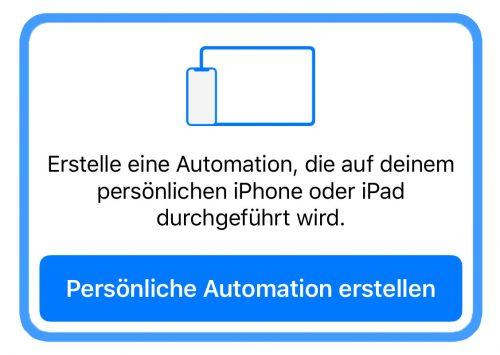 Persoenliche Automation