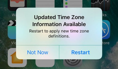 Update Time Zone Information Iphone