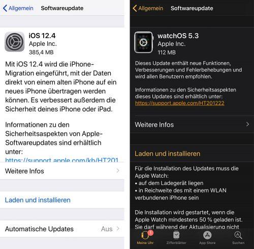 Updates Ios 12 4