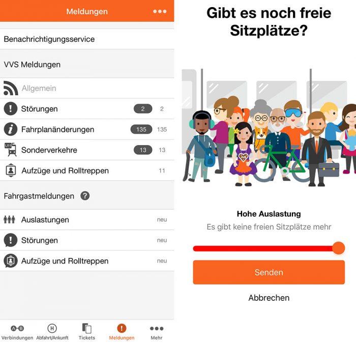Vvs App Stuttgart Fahrgastmeldungen