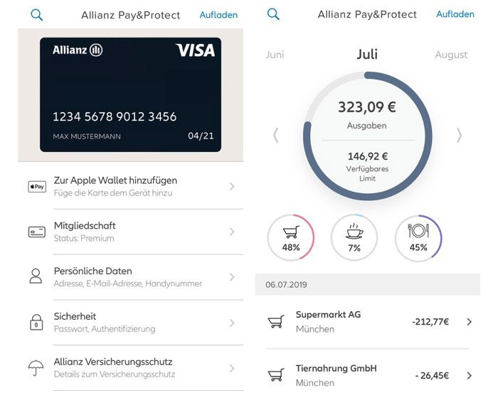 Allianz Pay Und Protect Screenshots