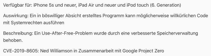 Apple Fehler Csv 2019 8605