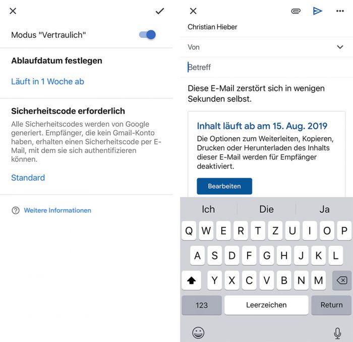 Gmail Vertraulicher Modus
