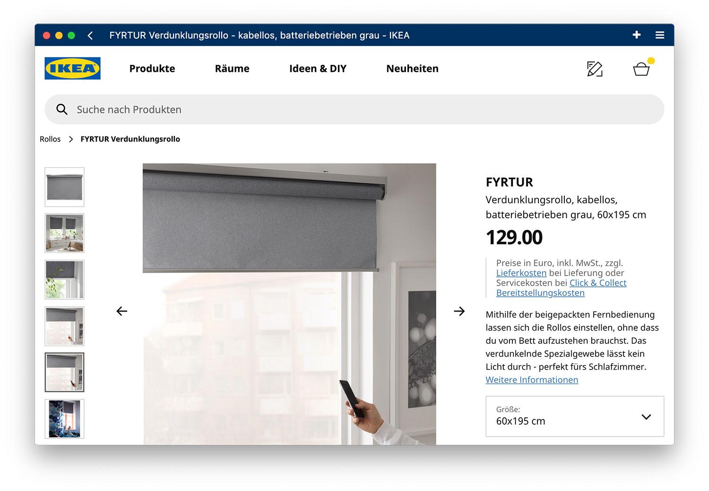 Ikea Rollo Verdunkelung.Ikea Smarthome Rollos Kadrilj Und Fyrtur Starten In
