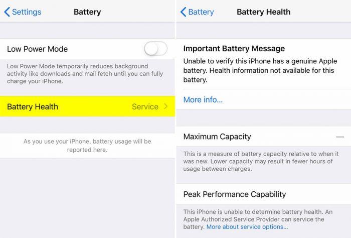 Iphone Batteriezustand Meldung Nach Akku Tausch