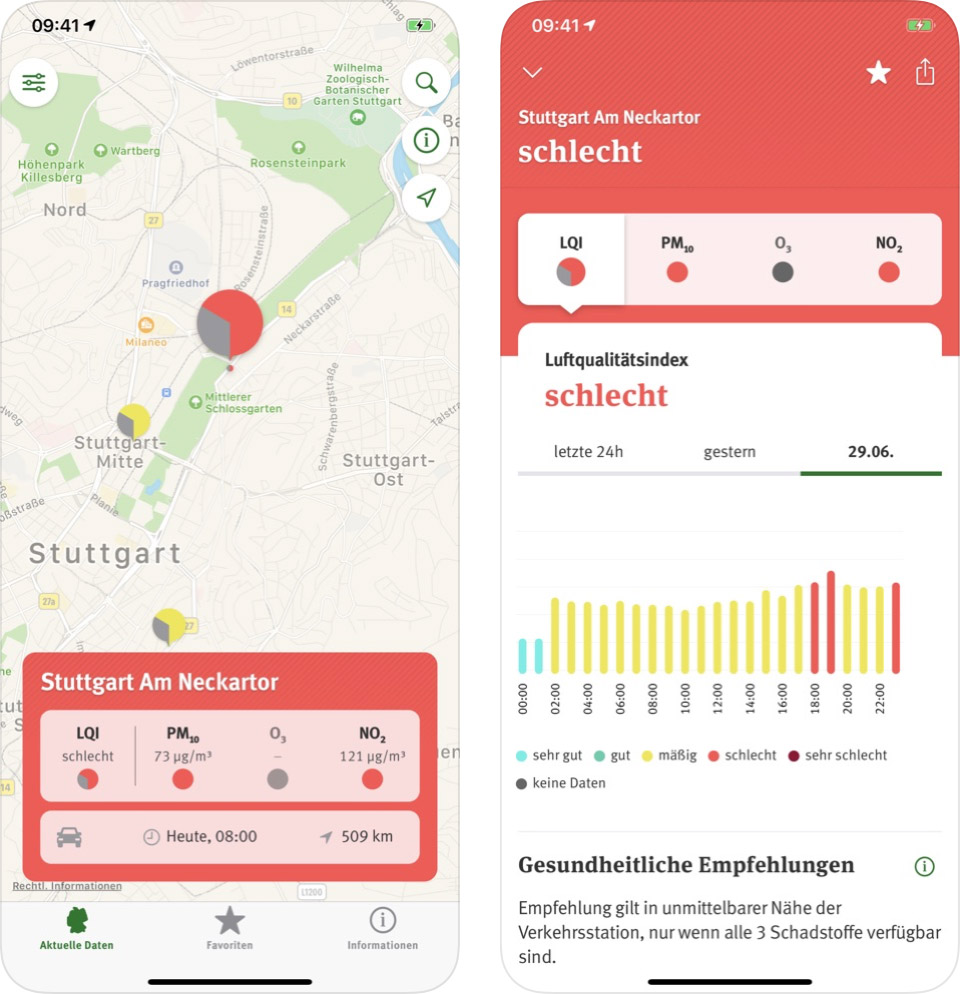 Luftqualitaet Umweltbundesamt App