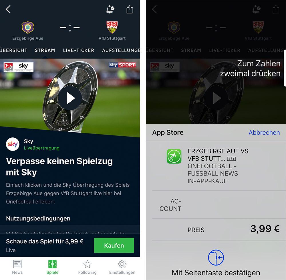 Sky macht Fußball-Einzelspiele bei Onefootball verfügbar