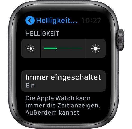 Immer Eingeschaltet Apple Watch