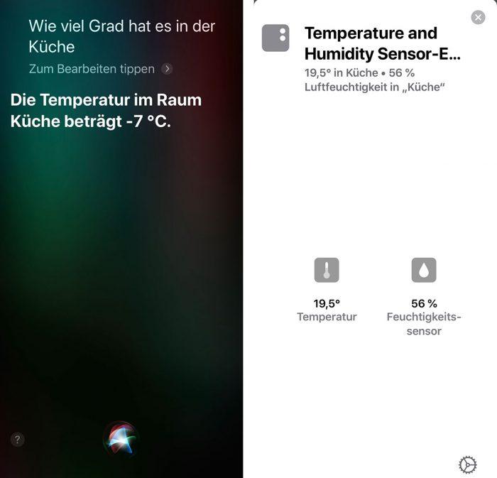 Siri Fehler Temperatur Fahrenheit
