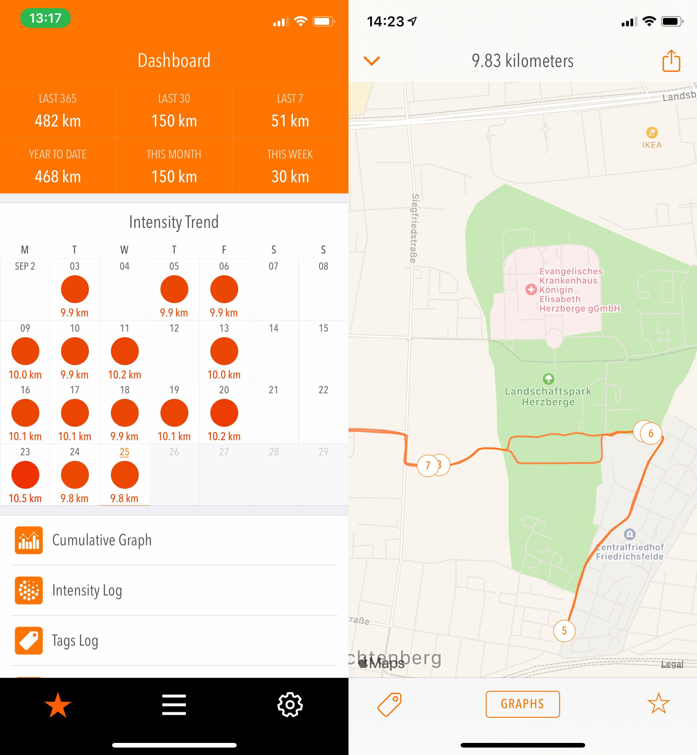 Tempo App Karte