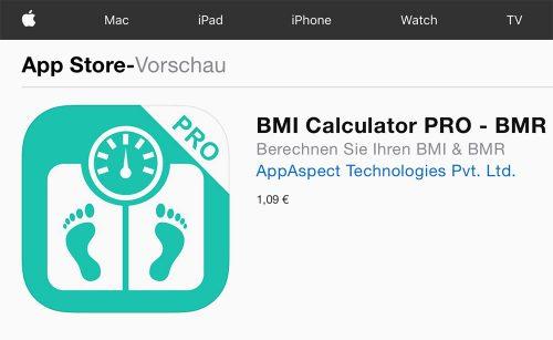 Appaspect Bmi Calculator