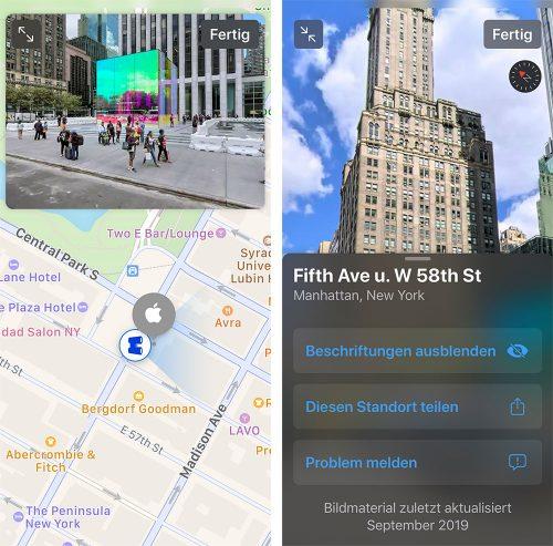 Apple Look Around Karten App