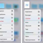 Ios 13 Dateien App Ordner Komprimieren