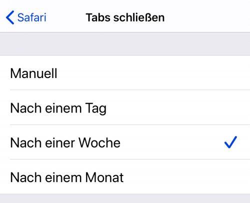 Ios 13 Safari Tabs Automatisch Schliessen