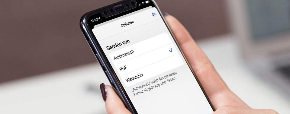 iOS-Tipps: Webseiten als PDF teilen und schnelles Scrollen