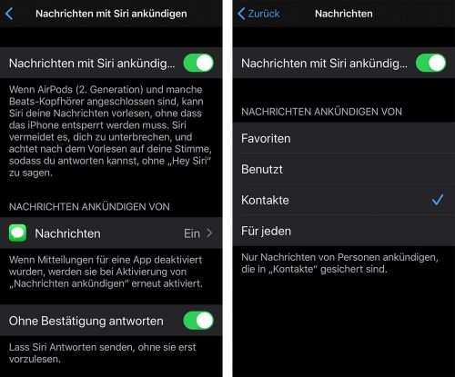 Nachrichten Ankuendigen Siri Ios 13 2