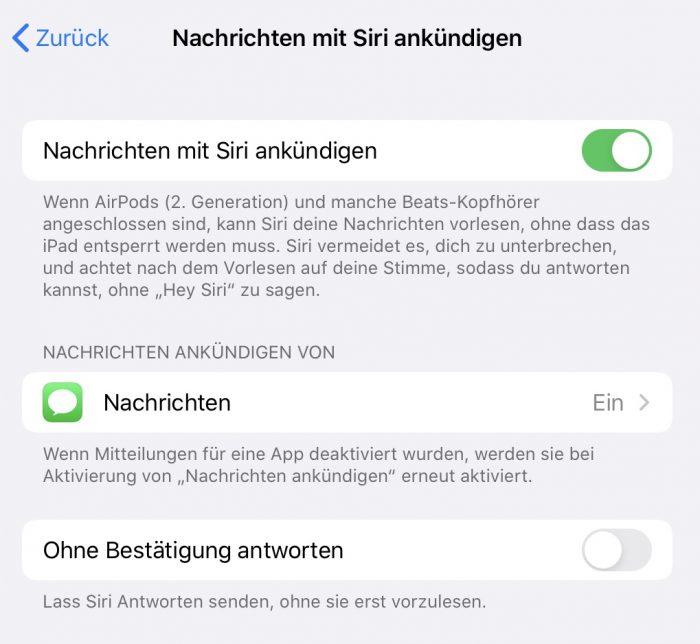Nachrichten Mit Siri Ankuendigen