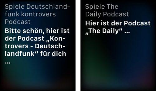 Podcast Siri Abspielen