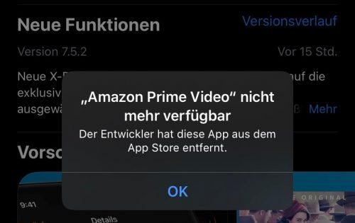 Prime App Weg