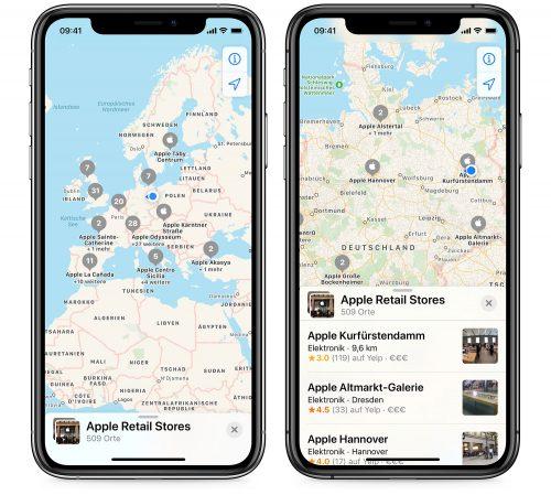 Sammlungen Karten App