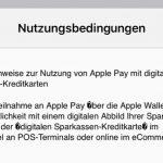Sparkasse Apple Pay Nutzungsbedingungen