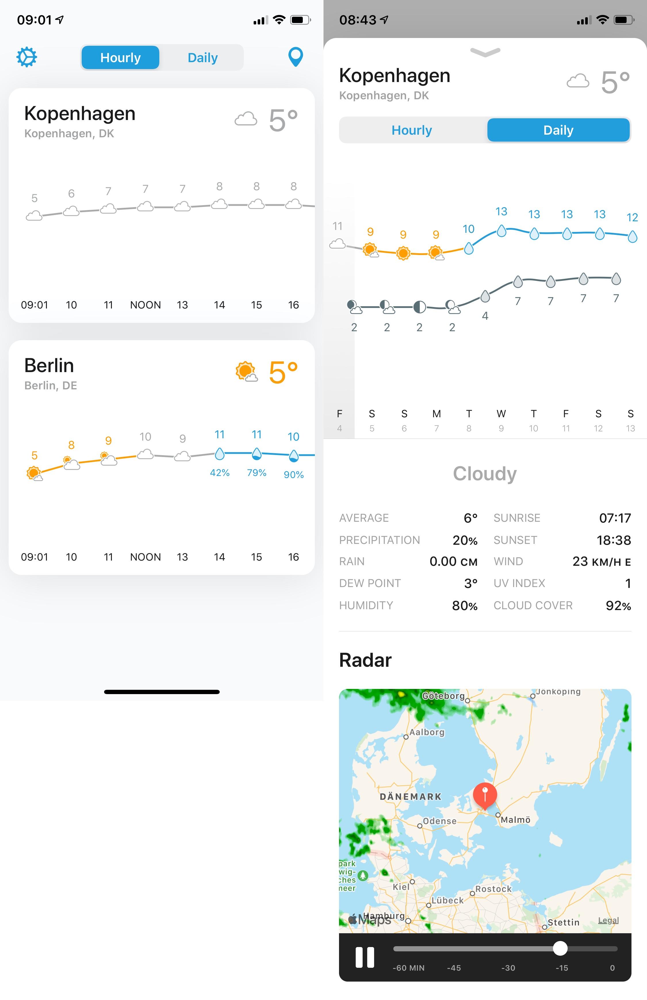 Weatherline Vollbild