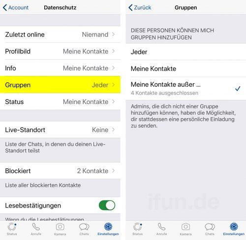 Whatsapp Gruppeneinladungen Blockieren