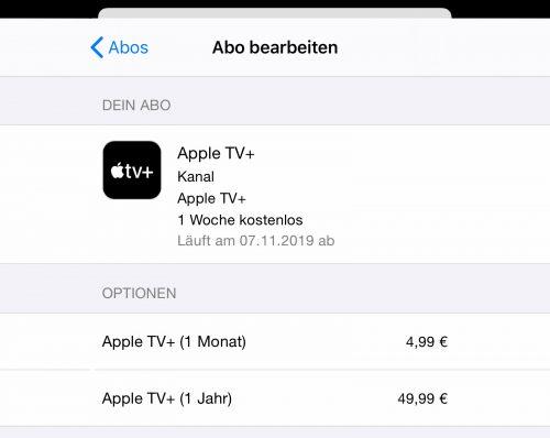 Abo Bearbeiten Apple Tv Plus