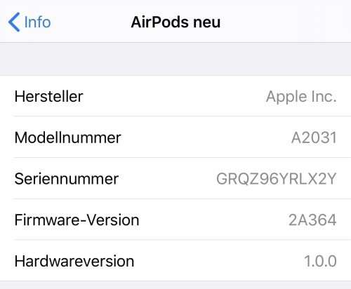 Airpods Firmware