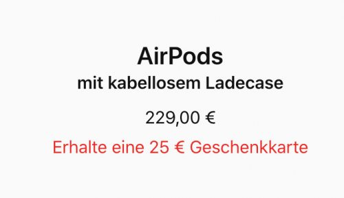 Airpods Nachlass