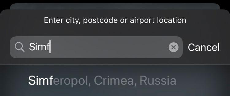 Apple Karten Krim