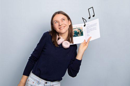 Audio Karte Frau