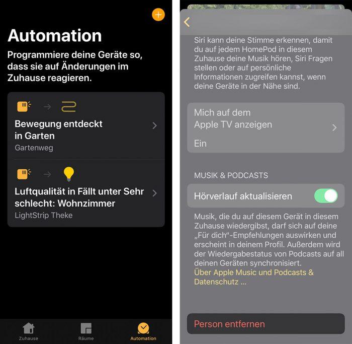 Home App Automation Fehler