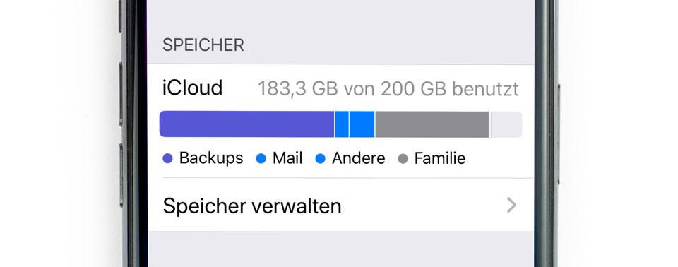 Tipp: Überflüssige iCloud-Backups löschen