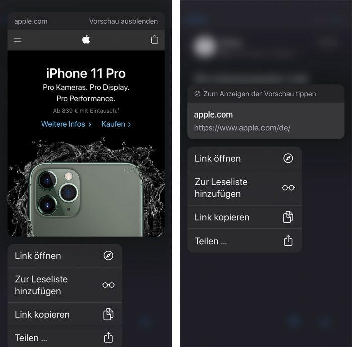 Ios Mail Iphone Link Vorschau