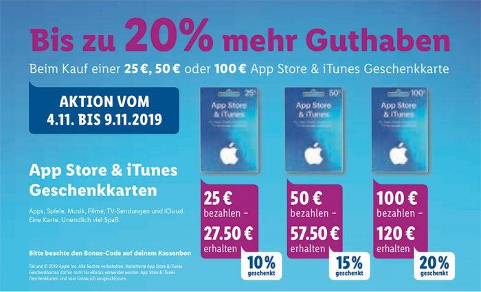 Itunes App Store Karten Mit Rabatt Kw 45
