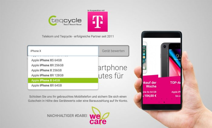 Telekom We Care Handy Ankauf