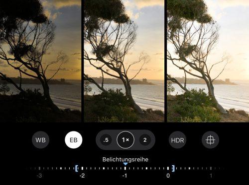 ProCamera Exposure Bracketing Belichtungsreihe DE