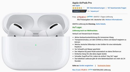 Airpods Pro Sofort Lieferbar