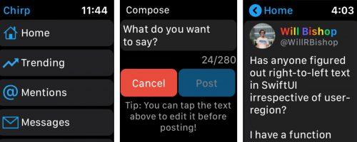 Chirp Twitter App Apple Watch