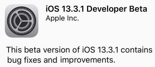 Ios 13 3 1 Beta 1